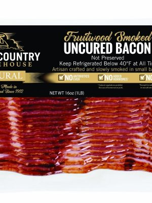 Fruitwood smoked uncured bacon – 1 lb