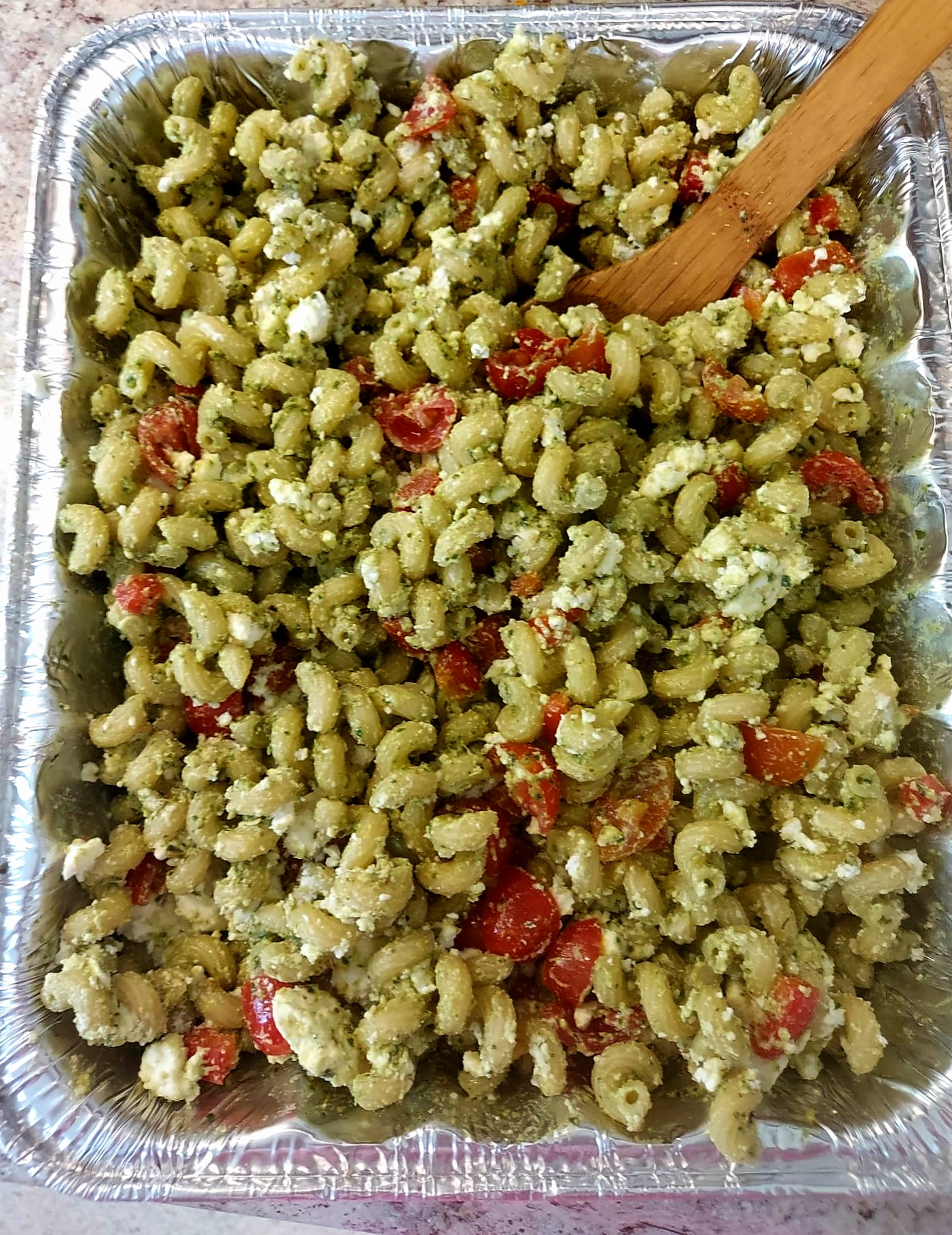 Italian flag pasta salad
