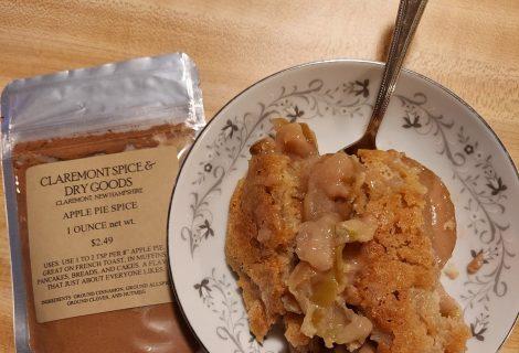 Hot sugar crust spiced apple cobbler